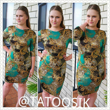 "Chain Bodycon ""TREASURE"" Dress"