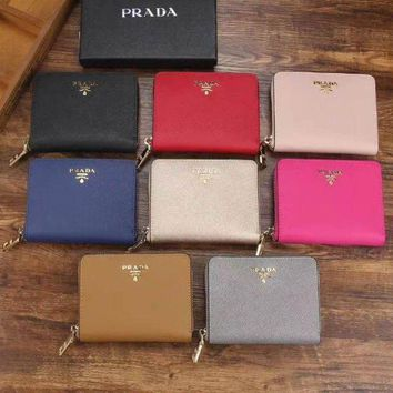 PEAPJ3V Prada Women Fashion Leather Zipper Wallet Purse-18