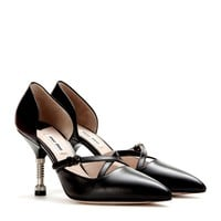 miu miu - leather pumps