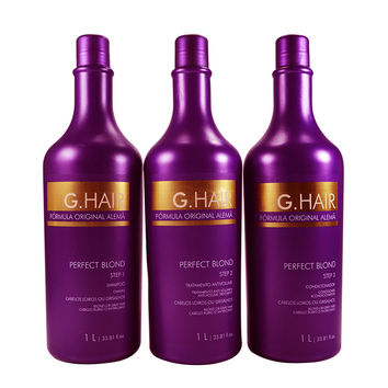 INOAR G HAIR LISSAGE PERFECT BLOND  BRESILLIEN SHAMPOO ET TRAITEMENT 33,81oz. (1L) KIT