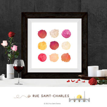 Printable Art Circles Watercolor Printables Modernist Wall Art Minimalist Art Print Instant download art watercolor art prints digital art