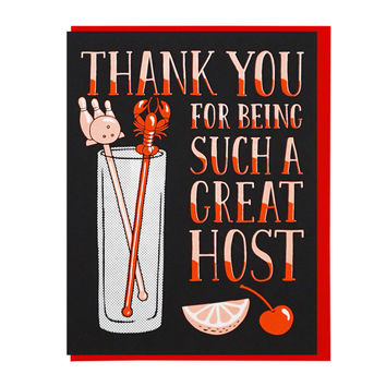 Thank You Great Host Greeting Card