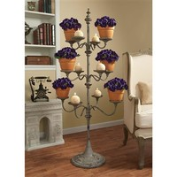 SheilaShrubs.com: Pembrook Candelier Tree Metal Display Stand MH31140 by Design Toscano: Plant Stands