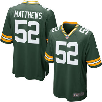 Youth Green Bay Packers Clay Matthews Nike Green Team Color Game Jersey