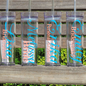 bridesmaid cups, acrylic cup, skinny tumblers, bachelorette party cup, personalized tumbler, wedding cups, plastic cups, stocking stuffer