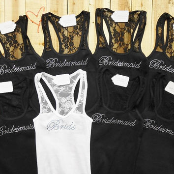 8 Bachelorette Party Shirts. 8 Bridesmaid Tank Top. 8 Bachelorette Party Tank Tops. 8 Team Bride Tank Tops.