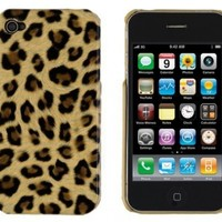 Brown Leopard Print Case for Apple iPhone 4, 4S (AT&T, Verizon, Sprint)