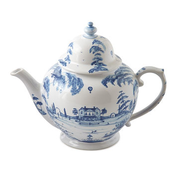 Country Estate Delft Blue Teapot - Juliska