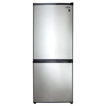 Danby 9.2 cu. ft. Bottom Mount Refrigerator in Spotless Steel-DFF261BSLDB at The Home Depot