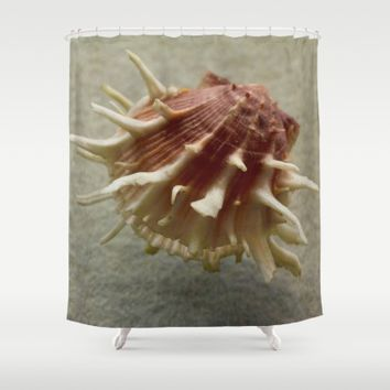 Shelley The Seashell Shower Curtain by UMe Images