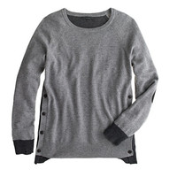 J.Crew Womens Side-Button Sweater In Colorblock