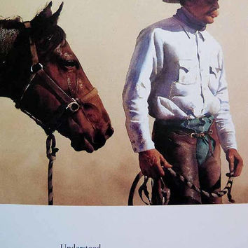 Cowboys & Images: The Watercolors of William Matthews Flat SIGNED by Artist First Edition Large Pristine Art Hardcover Dust Jacket