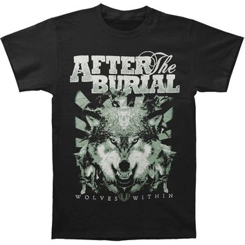 After The Burial Men's  Wolf Pack Slim Fit T-shirt Black