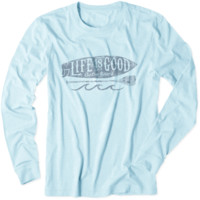 Men's Get On Paddleboard Long Sleeve Cool Tee|Life is good