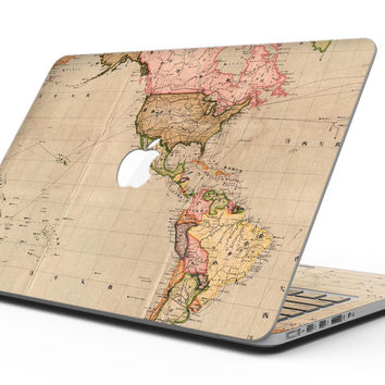 The Western World Overview Map - MacBook Pro with Retina Display Full-Coverage Skin Kit