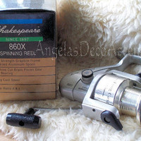 Vintage Shakespeare Reel, Sigma Supra RT 860 X, Long Cast Spinning, Fishing Reel, Very Good Working Condition, Original Box, Like New,