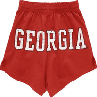 Georgia Bulldogs Women's Red Authentic Soffe Shorts