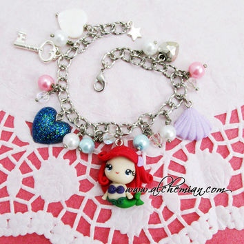 Ariel (Little Mermaid  disneyinspired )  thandmade bracelet
