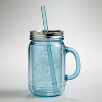 Blue Mason Jar Tumbler - World Market