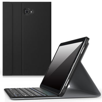 MoKo Samsung Galaxy Tab A 10.1 with S Pen Case - Wireless Bluetooth Keyboard Cover Case for Samsung Galaxy Tab A 10.1 with S Pen (SM-P580 / SM-P585) Tablet 2016 Release BLACK