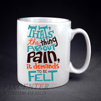 The Fault Our Stars John Green PAIN Personalized mug/cup
