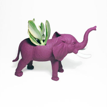 Up-cycled Mulberry Elephant Planter