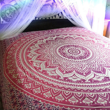 Purple Pink Mandala Tapestry