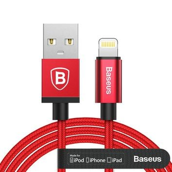 Baseus MFI Certified Charging Cable For Lightning to USB Cable For iPhone 5 6 7 7 Plus iPad Air Mini 2 3 2.4A Fast Charger Cable