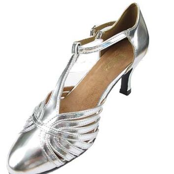 Silver 1920s Style Shoes-Gatsby Shoes #gatsby #tstrapshoes #silvershoes #20sstyleshoes #downtonabby