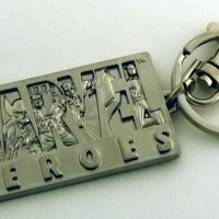 Marvel Heroes Pewter Keychain