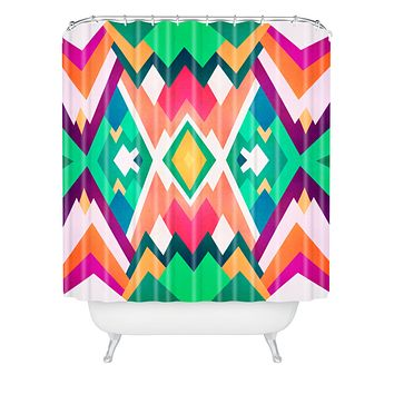 Elisabeth Fredriksson Summer Peaks Pattern Shower Curtain