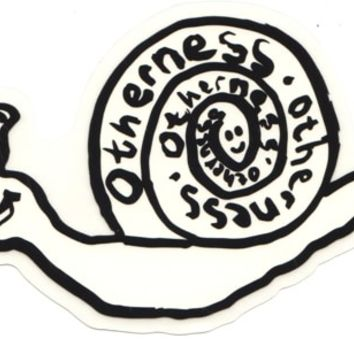 Otherness Snail Sticker - white/black - Free Shipping