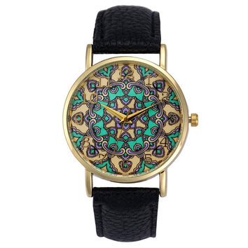 Retro Totem Dial Watch Women Dress Wristwatch Clock Relogio Feminino Women's Casual Sports Watches Men Quartz-Watch