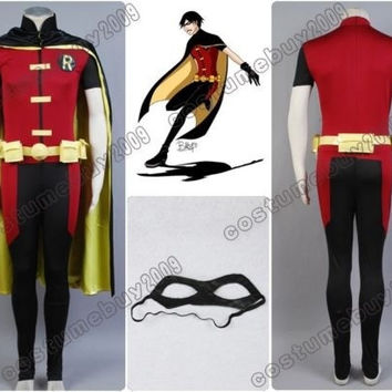 Batman Young Justice Robin Cosplay Costume Outfit = 1928003012