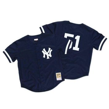 VON3TL Mitchell Ness Bernie Williams 1998 Authentic Mesh BP Jersey NY Yankees