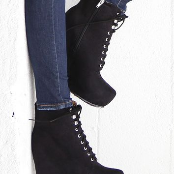 New Heights Wedge Booties