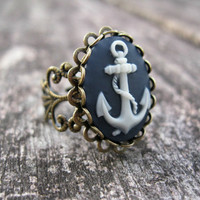Anchors Away --Nautical Inspired Ring