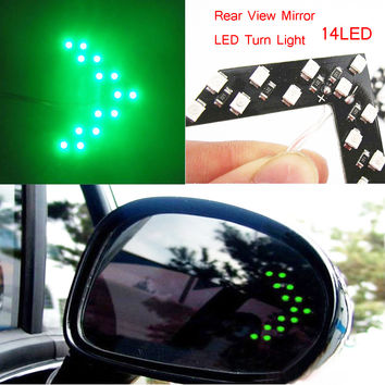 Free shipping Car styling 14 SMD LED Arrow Panel For Car Rear View Mirror Indicator Turn Signal Light Car led Parking