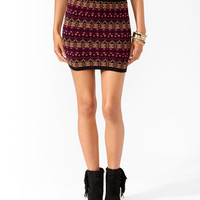 Geo Intarsia Bodycon Skirt