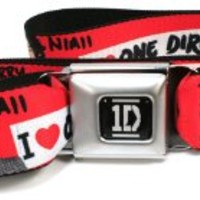 One Direction Group Red Seatbelt Belt