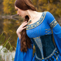"Medieval Style Suede Corset Belt ""Lady of the Lake"""