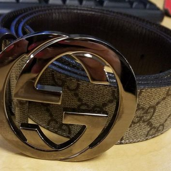Gucci Supreme Belt with GG Buckle Size 38