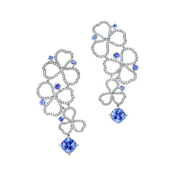 Tiffany & Co. - Tiffany Paper Flowers™:Diamond and Tanzanite OpenDrop Earrings