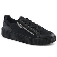 Demonia Side Zipper Unisex Creeper Sneakers