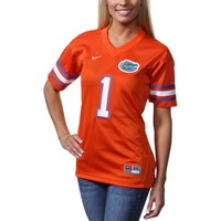 Nike Florida Gators #1 Women's Twill Football Jersey - Orange