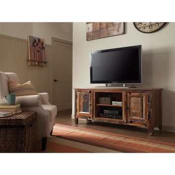 Accent Cabinets Reclaimed Wood TV Stand, Brown