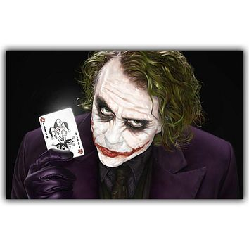 Comics Superhero Batman Joker Poster Art Poster Printing Using Silk Fabric Wallpaper DY175