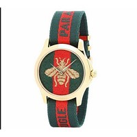 GUCCI Ladies Fashion Bee Embroidery Watch Business Watches Wrist Watch