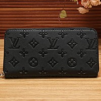 LV Women Shopping Fashion Leather Zipper Wallet Purse