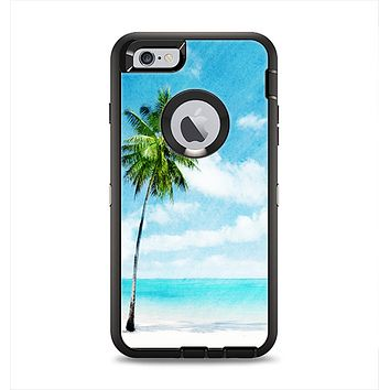 The Paradise Beach Palm Tree Apple iPhone 6 Plus Otterbox Defender Case Skin Set